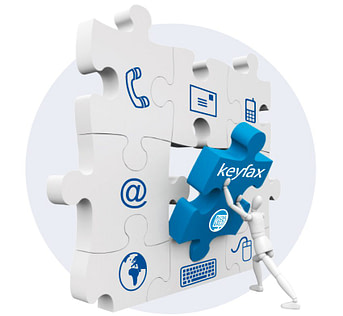 Resource Centre - Keyfax jigsaw piece fitting into your communications environment